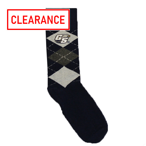 Image For Two Feet Ahead Navy Argyle Socks w/GS Logo