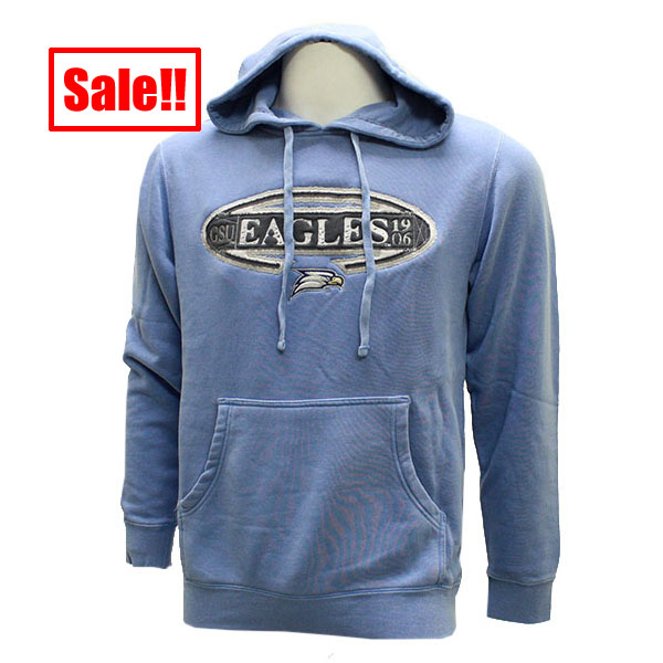 Image For CI Sport Mid-weight Light Blue Hooded Pullover w/Eagles