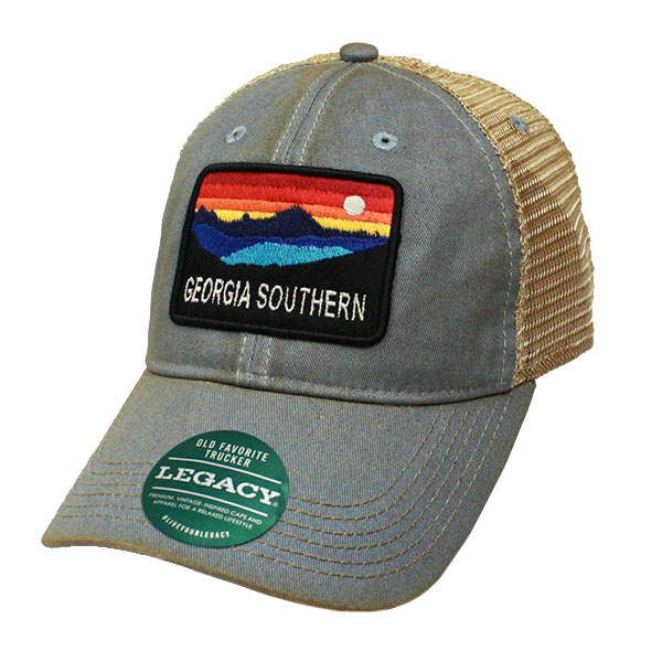Image For Legacy Blue & Tan Trucker Cap w/GaSo Horizon