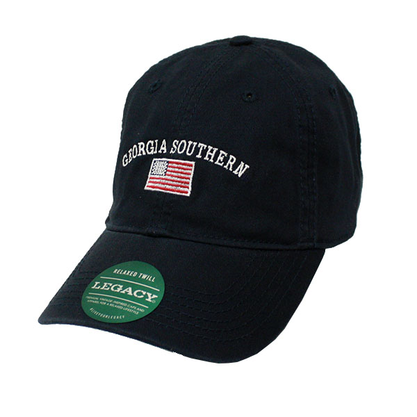 Image For Legacy Navy Relaxed Twill Trucker Cap w/GASO/Flag