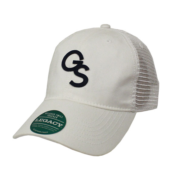 Image For Legacy White Trucker Cap w/GS