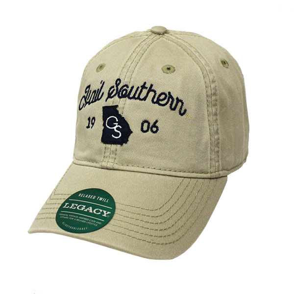 Image For Legacy Khaki Relaxed Twill Trucker Cap w/HAIL SOUTHERN