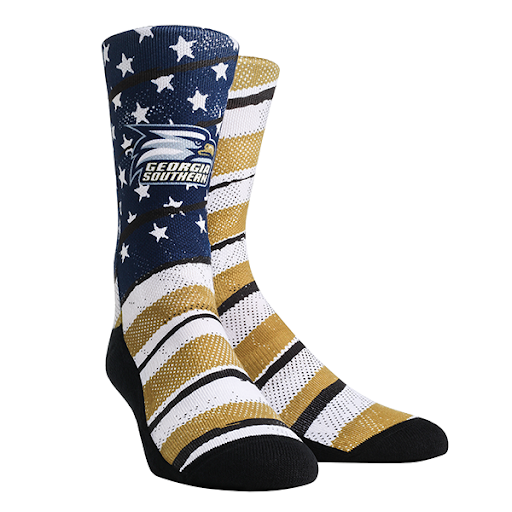 Image For Rock Em Stars and Stripes Crew Socks w/Athletic Logo