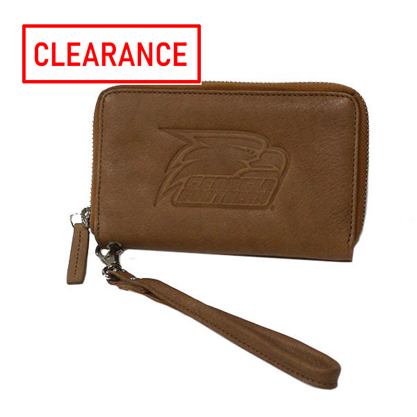 Image For Tan Party Clutch w/Athletic Logo