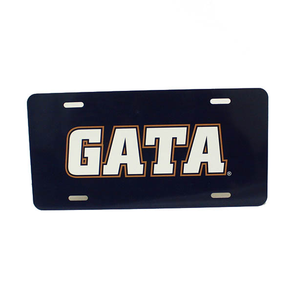 Image For GATA Metal License Plate