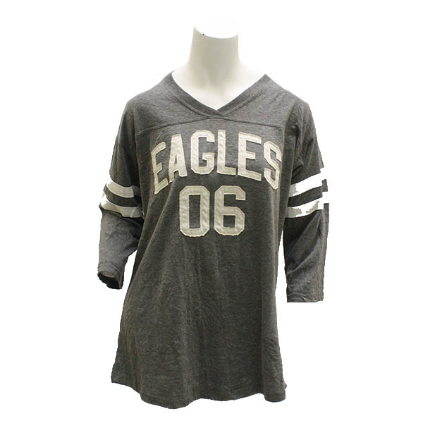 Image For Gray Ladies Top w/Eagles