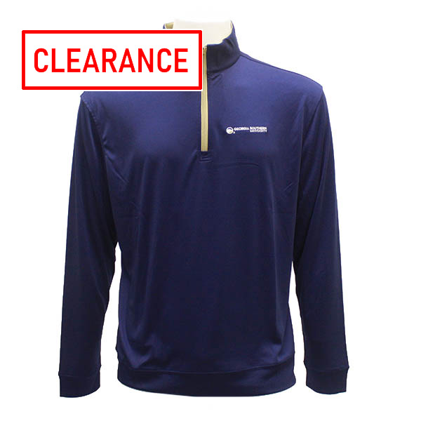 Image For Navy/Khaki 1/4 Zip Light Weight Performance Piece