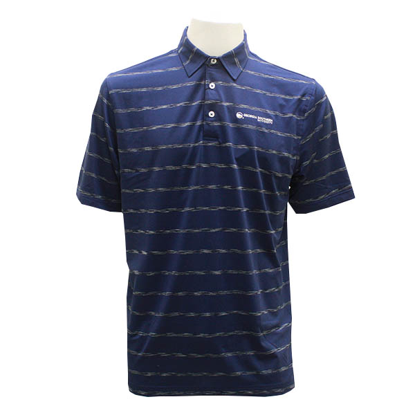 Image For Divots Navy/Grey Polo w/GSU
