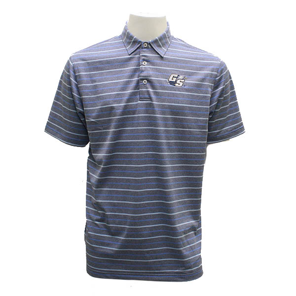 Image For Divots Navy/Sky Blue Polo w/Secondary Logo
