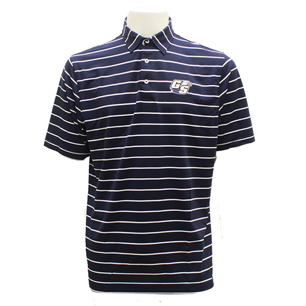 Image For Divots Navy/White Polo w/Secondary Logo
