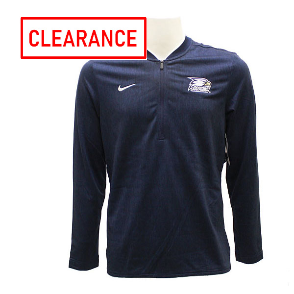 Image For Nike Navy 1/4 Zip Pullover w/Athletic Logo
