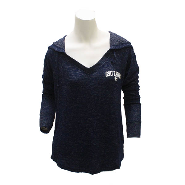 Image For Boxercraft Navy Ladies v-neck hoodie w/GSU Eagles