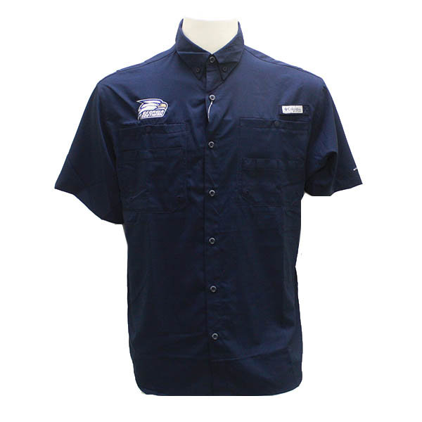 Image For Columbia Navy Button Down Shirt w/Athletic Logo
