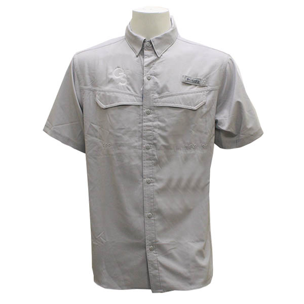 Image For Columbia Gray Button Down Shirt w/GS