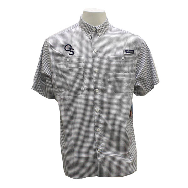 Image For Columbia Navy & white Button Down Shirt w/GS