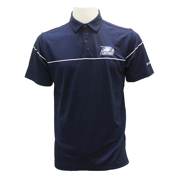 Image For Columbia Navy Golf Polo w/Athletic Logo