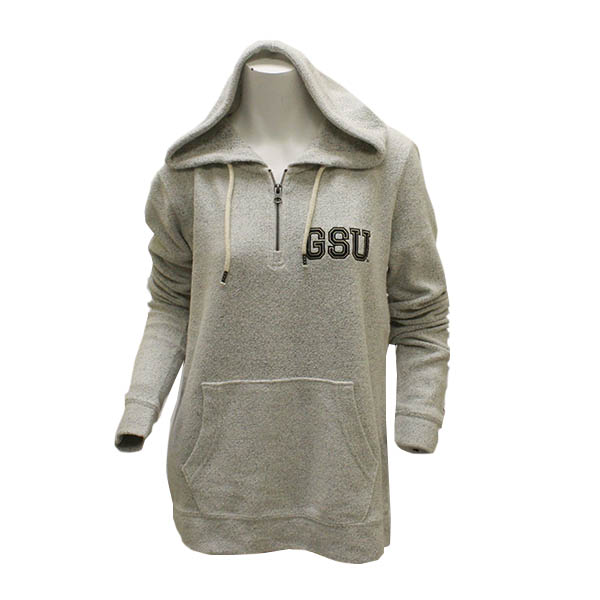Image For League Cream 1/4 Zip Ladies Pullover w/GSU