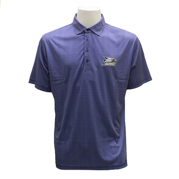 Image For Horn Legend Navy & White Polo w/Athletic Polo