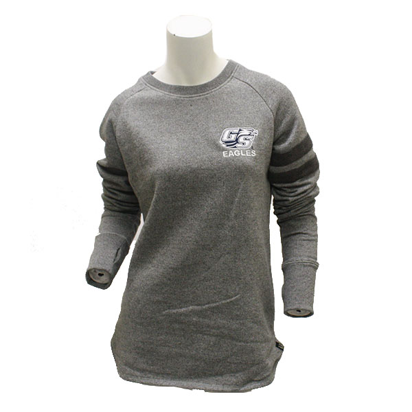 Image For Renuu Gray Ladies Long Sleeve Sweater w/Secondary Logo