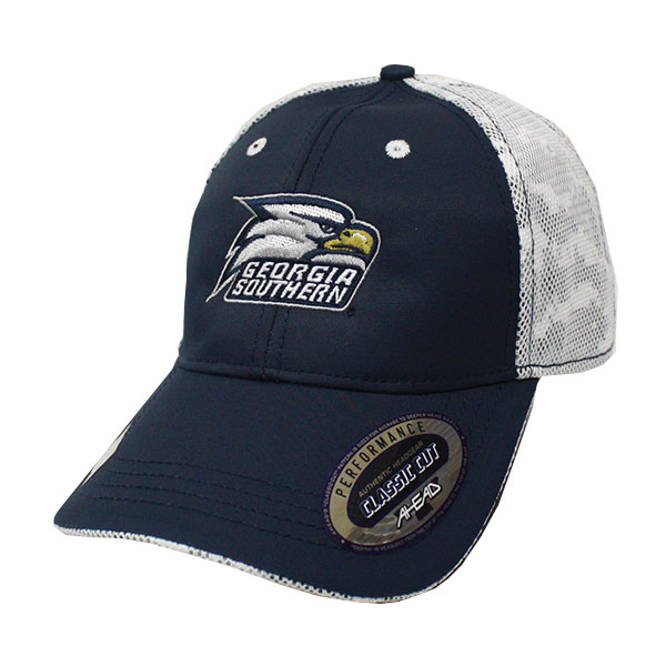 Image For Ahead Navy and White Cap w/Athletic Logo