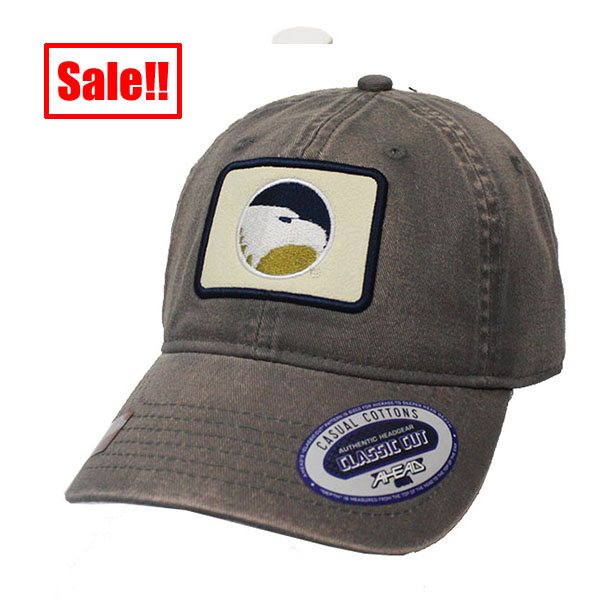 Image For Ahead Gray Cap w/Eagle Logo