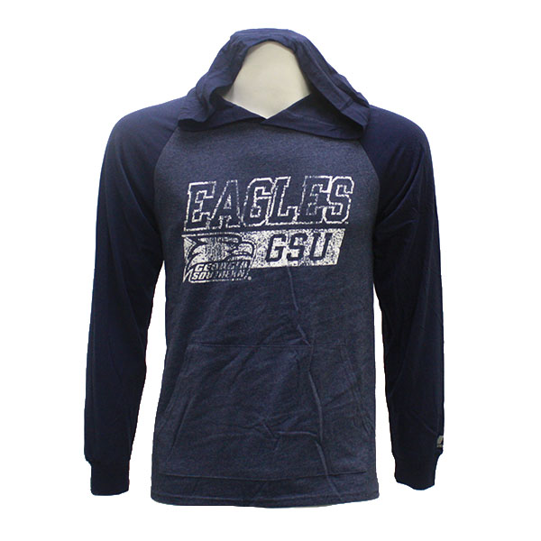 Image For Russell Athletic Navy Lightweight Hoodie w/GSU Eagles