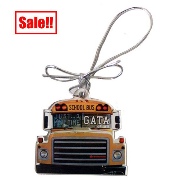 Image For Yellow Bus Ornament w/GATA