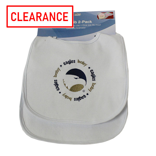 Cover Image For 2-Pack White Baby Bibs w/Academic Logo