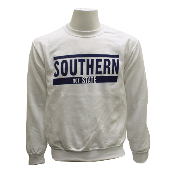 Image For Gildan White Crew Sweatshirt w/SouthernNOTState