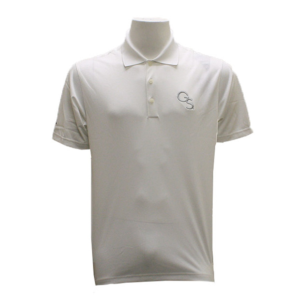 Image For Adidas White Golf Polo w/GS