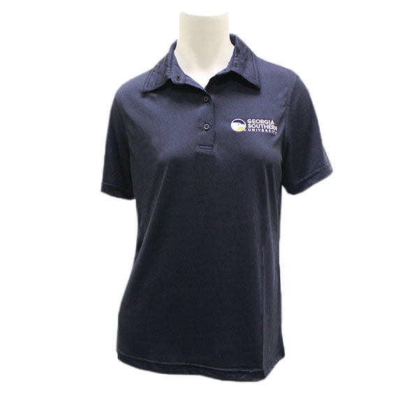 Image For Harriton Women's Navy Polo w/ Academic Logo
