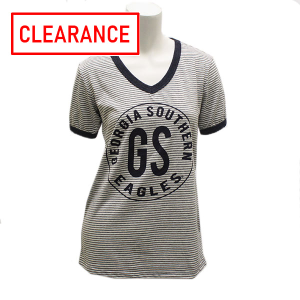 Image For Blue84 Navy/Gray Ladies Stripe Topw/GASO/GS