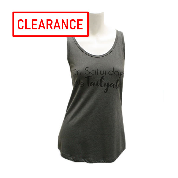 Image For Gray On Saturday We Tailgate Ladies Tank