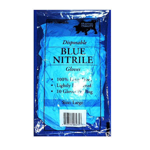 Image For Blue Nitrile Gloves