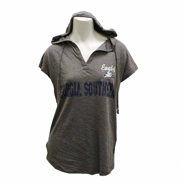 Image For CI Sport Gray Ladies Hoodie w/Eagles/GASO/Eagle Head