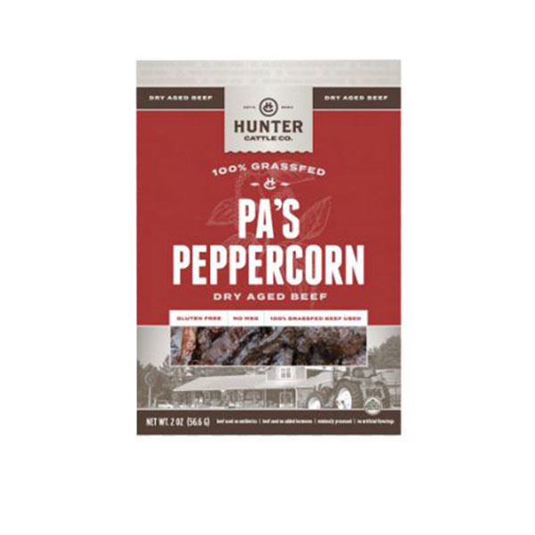 Image For Hunter Cattle Co. Pas's Peppercorn Spicy Dry Aged Beef, 2OZ