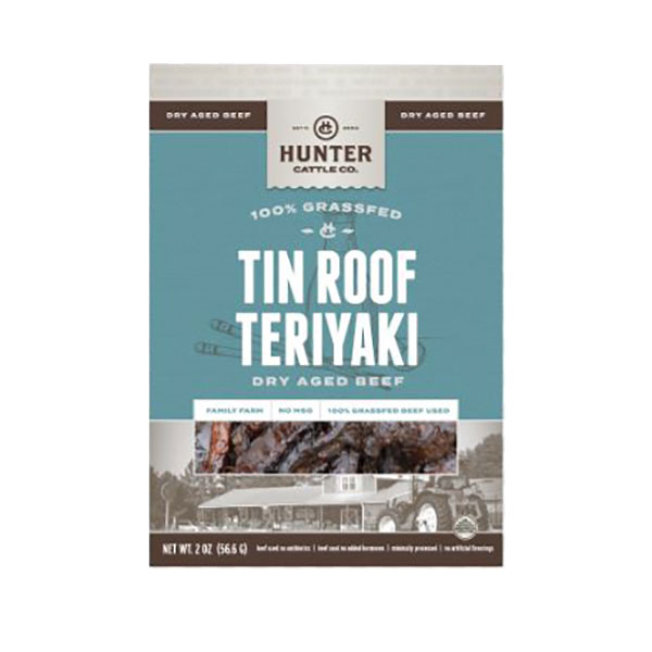 Image For Hunter Cattle Co. Tin Roof Teriyaki Dry Aged Beef, 2OZ