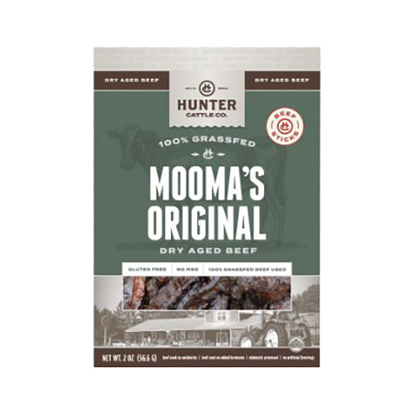 Image For Hunter Cattle Co. Mooma's Original Dry Aged Beef Sticks, 2OZ