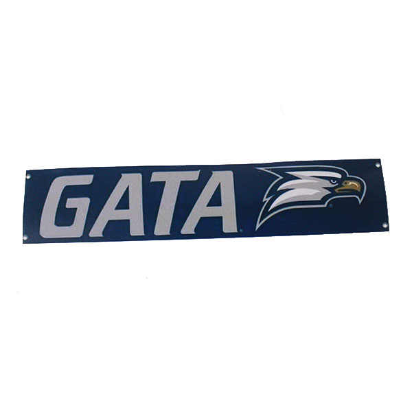 "Cover Image For 10"" x 24"" Handheld Banner w/GATA/Eagle Head"