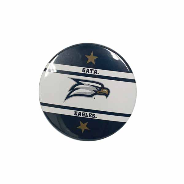 "Image For 3"" Navy & White GATA Eagles Gameday Button w/Eagle Head logo"