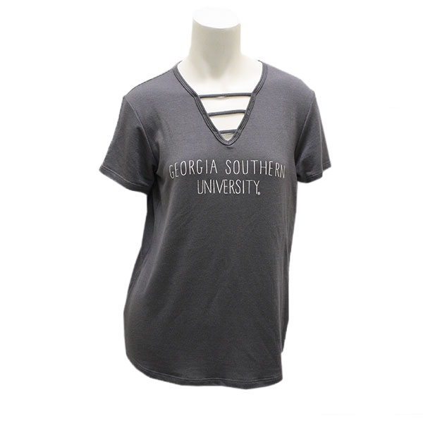 Image For Blue84 Gray Ladies Top w/GSU