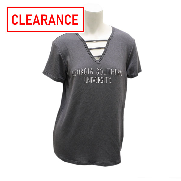 Image For Gray Ladies Top w/GSU