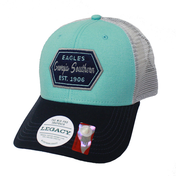 Image For Legacy Mint/Navy Mid-Pro Snapback Trucker Hat w/GS