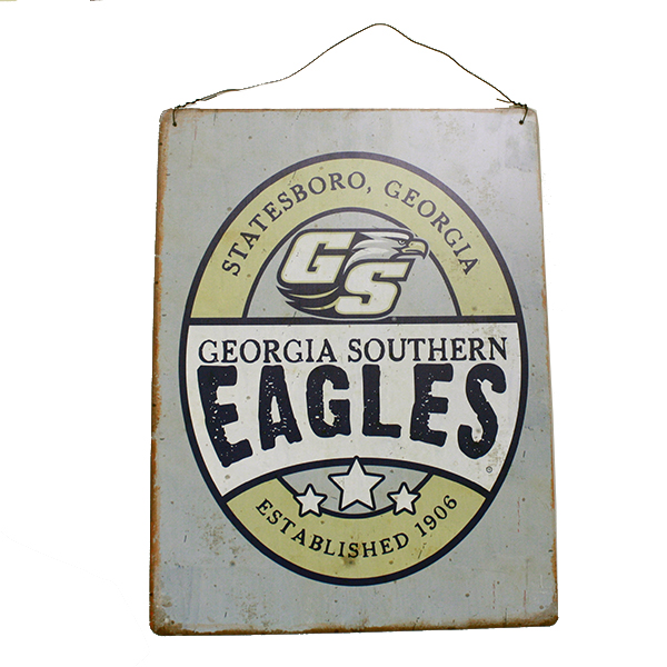 Cover Image For Legacy Rectangle Tin Sign w/Eagles/GS/Secondary Logo
