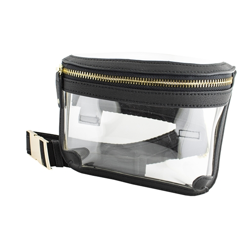 Image For Black Clear Belt Bag
