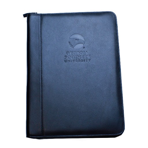 Cover Image For Black Leather Portfolio Notebook w/ Academic Logo