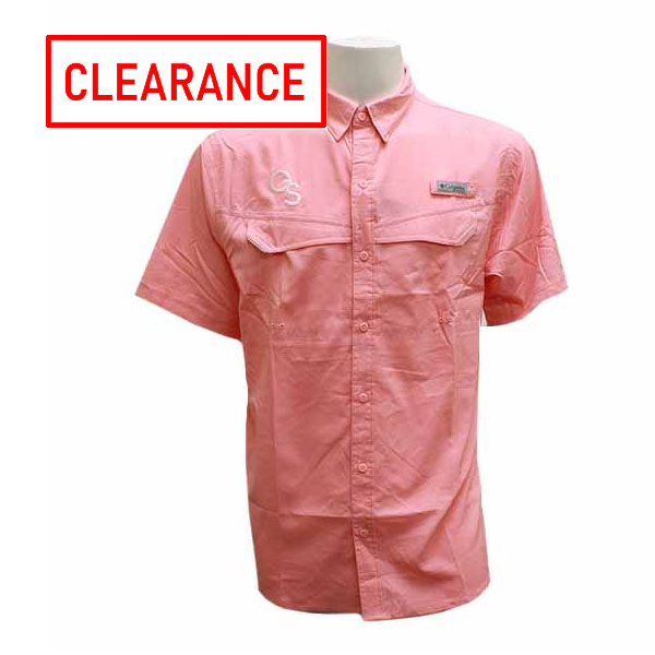 Image For Columbia Pink Collar Button Shirt w/GS