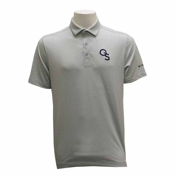 Image For Columbia Gray & White Golf Polo w/GS