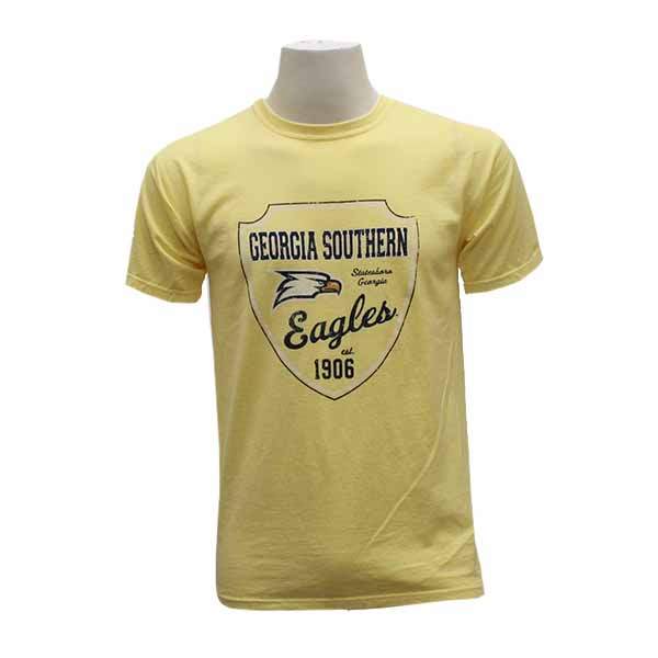 Image For Comfort Colors Yellow T-shirt w/GASO/Eagle Head/Eagles/1906