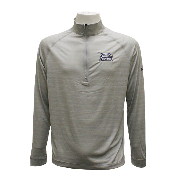 Image For Columbia Gray Terminal Tackle 1/4 Zip w/Athletic Logo